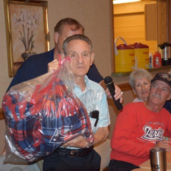 Peter Calairi - Door Prize Winner of Patriots Throw